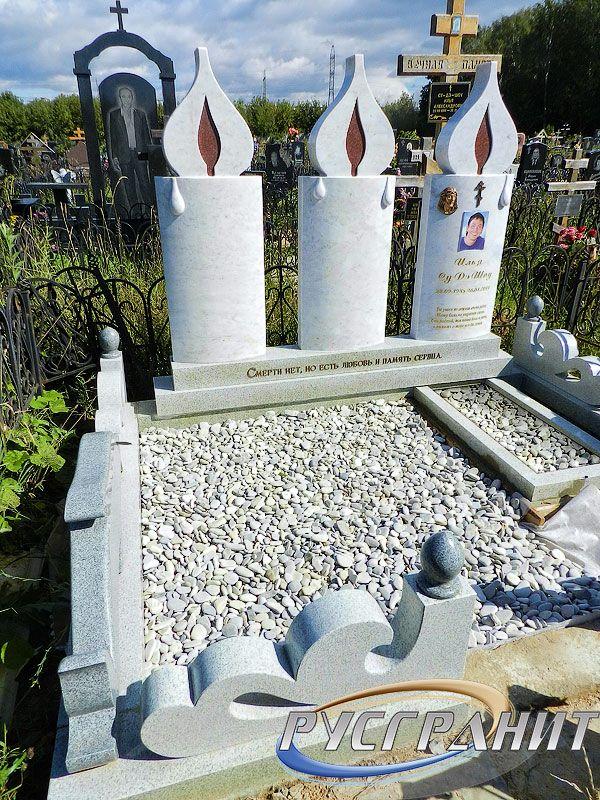 Эконом памятник Пламя Кашира Цоколь из габбро-диабаза Новотроицк