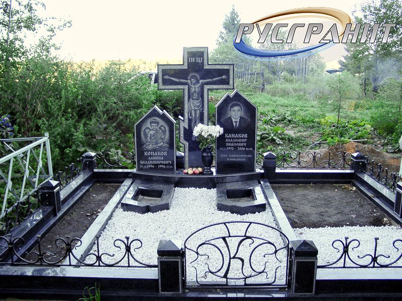 Купить памятник на кладбище Видное Мраморный крестик Похвистнево