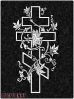 Рисунок на памятнике - крест