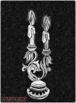 Рисунок на памятнике - свеча
