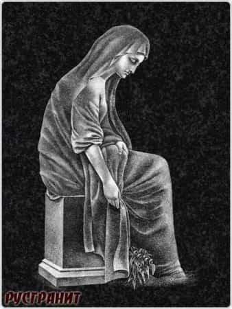 Рисунок на памятнике - икона