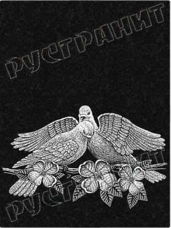 Рисунок на памятнике - голуби