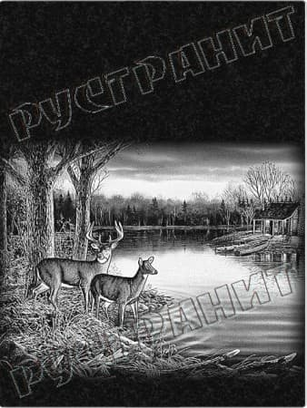 Рисунок на памятнике - олень