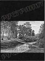 Рисунок на памятнике - пейзаж