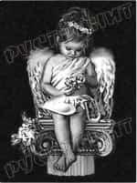 Рисунок на памятнике - ангел