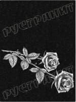Рисунок на памятнике - цветы